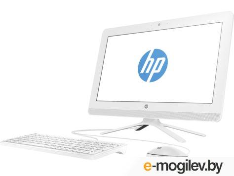 """HP 20-c044ur 20"""" HD E2 7110/4Gb/500Gb 7.2k/R2/DVDRW/Windows 10/GbitEth/клавиатура/белый"""