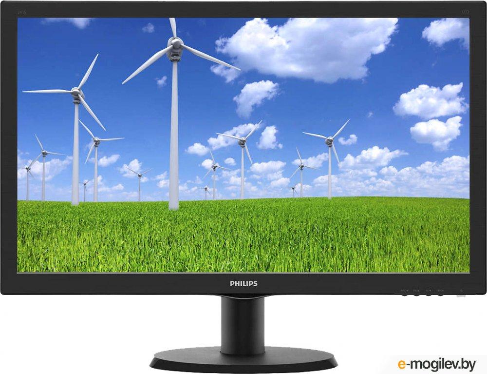 "Philips 23.6"" 243S5LSB5 (00/01) черный TFT LED 5ms 16:9 DVI матовая 250cd 1920x1080 D-Sub FHD 3.41кг"