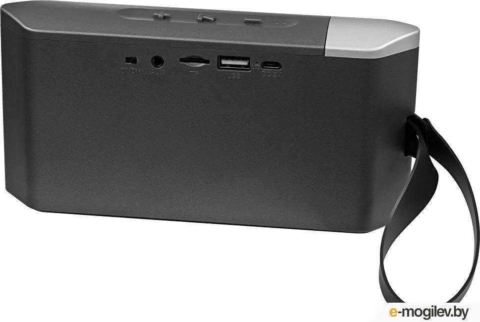Ginzzu GM-873B, BT-Колонка 2x3w/1.2Ah/USB/TF/AUX/FM