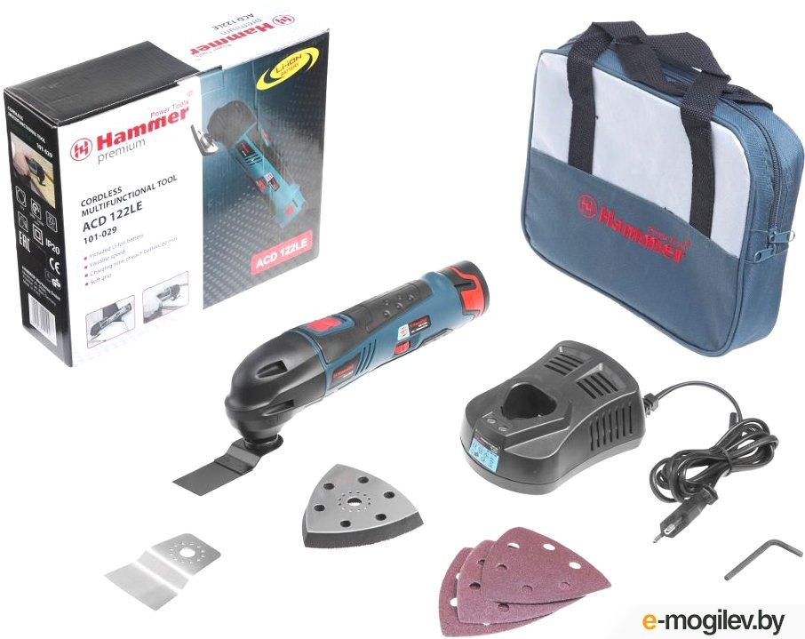 МФИ акк, HAMMER ACD122LE PREMIUM 12В 1,3Ач 5000-16000об/мин