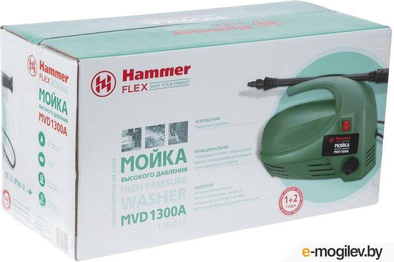 Мойка высокого давления Hammer Flex MVD1300A 1300Вт, 318л/ч 100Бар