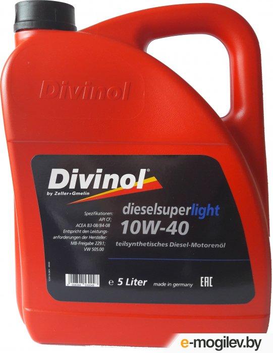 Масло моторное 4-х тактное полусинтетич. SAE 10W-40 DIVINOL SUPER 5 л (всесезонное)