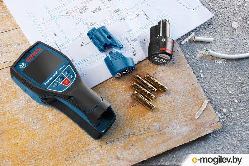Детектор проводки BOSCH D-tect 120 в кор. (металл: 120 мм, дерево: 38 мм, проводка: 60 мм,)