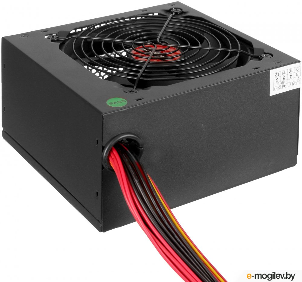 Exegate EX260638RUS Блок питания 400W Exegate 400PPE, ATX, black, APFC, 12cm, 24p 4p, PCI E, 3*IDE, 5*SATA, FDD