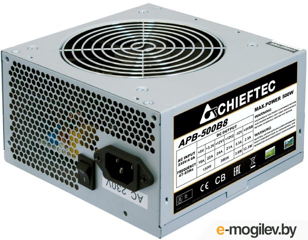 Блок питания Chieftec Value APB 500B8  ATX 2.3, 500W, Active PFC, 120mm fan  OEM