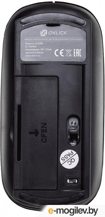 Мышь Oklick 625MW черный оптическая  1600dpi  беспроводная USB  3but
