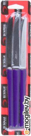 Набор ножей столовых, 3шт., серия MILLENIUN, фиолетовые, DI SOLLE