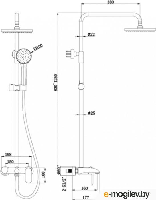 Душевая система Bravat Pure F6335369CP-A