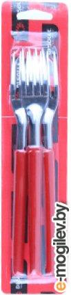 Набор вилок столовых, 3шт., серия MILLENIUN, красные, DI SOLLE