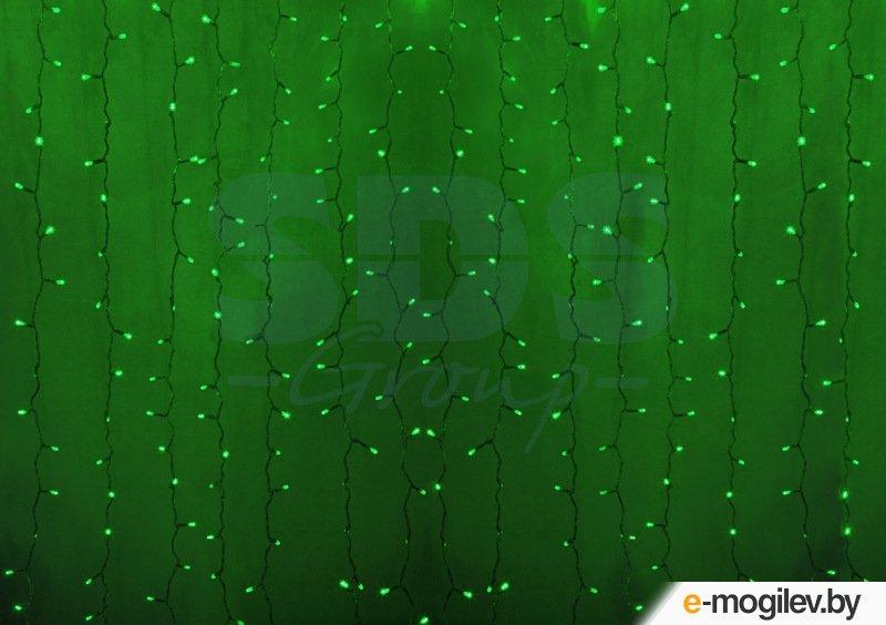 Гирлянды Neon-Night Светодиодный Дождь 2x1.5m 360 LED Green 235-304