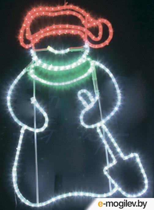 Световые панно Neon-Night Снеговик с лопатой 501-322