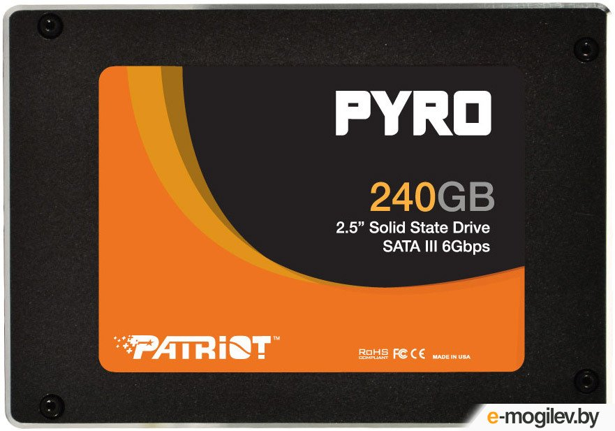 "[NEW] SSD 240 Gb SATA 6Gb/s Patriot  Pyro  <PE000214-PP240GS25SSDR> 2.5"" MLC"