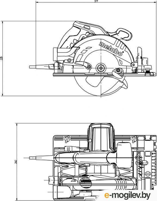 [Пила] Metabo KS 55 FS Пила дисковая [600955500] { 1200вт, 160х20мм, 55мм, кейс, вес 4 кг }