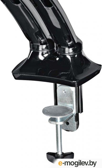 """Кронштейн для мониторов ЖК Hama Fullmotion черный-26"""" макс.5кг крепление к столешнице поворот и наклон"""