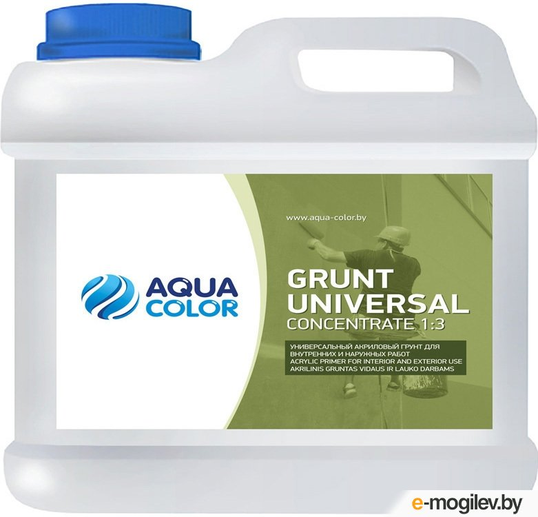 Грунтовка AquaColor Grunt Universal Concentrate 1:3 (1л)