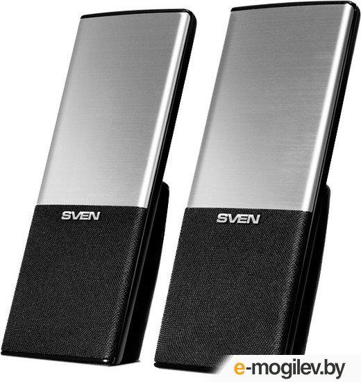 Sven 249 2*2Вт, USB, пластик, черная