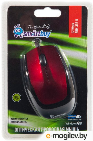 SmartBuy Optical Mouse SBM-307-R