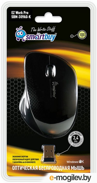 SmartBuy Wireless Optical Mouse SBM-309AG-K