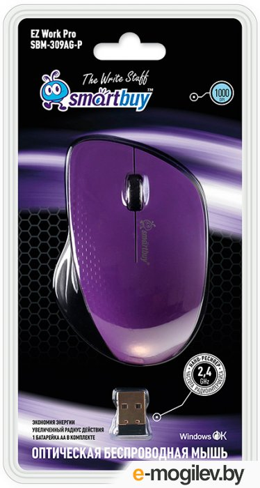 SmartBuy Wireless Optical Mouse SBM-309AG-P