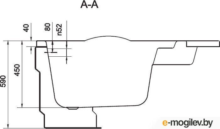 Cersanit Kaliope 153x100 (правая)