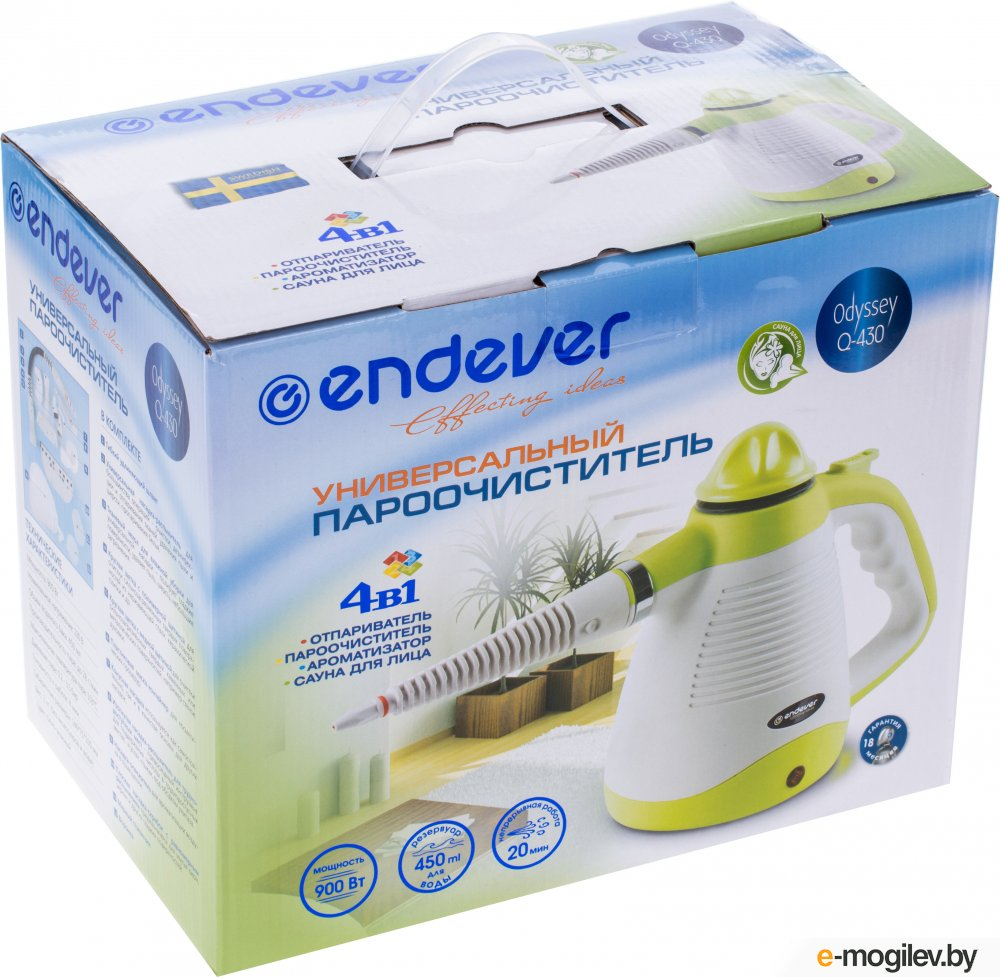 Endever Q-430 белый/зеленый 900Вт