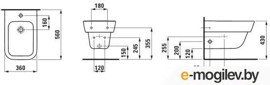 Биде подвесное Laufen Moderna Plus (8305410003041)