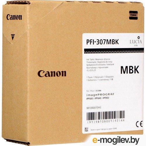 Картридж Canon PFI-307 MBK для плоттера iPF830/840/850. Чёрный матовый. 330 мл.