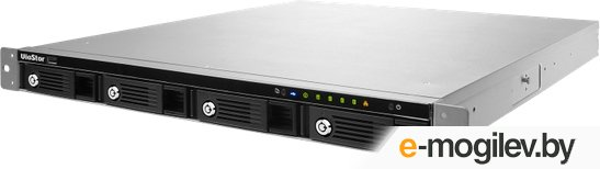 QNAP VS-4108U-RP Pro+ 8 каналов для записи видео, 4 отсека для HDD, локальный мониторинг, два блока питания. Intel 2,6 ГГц