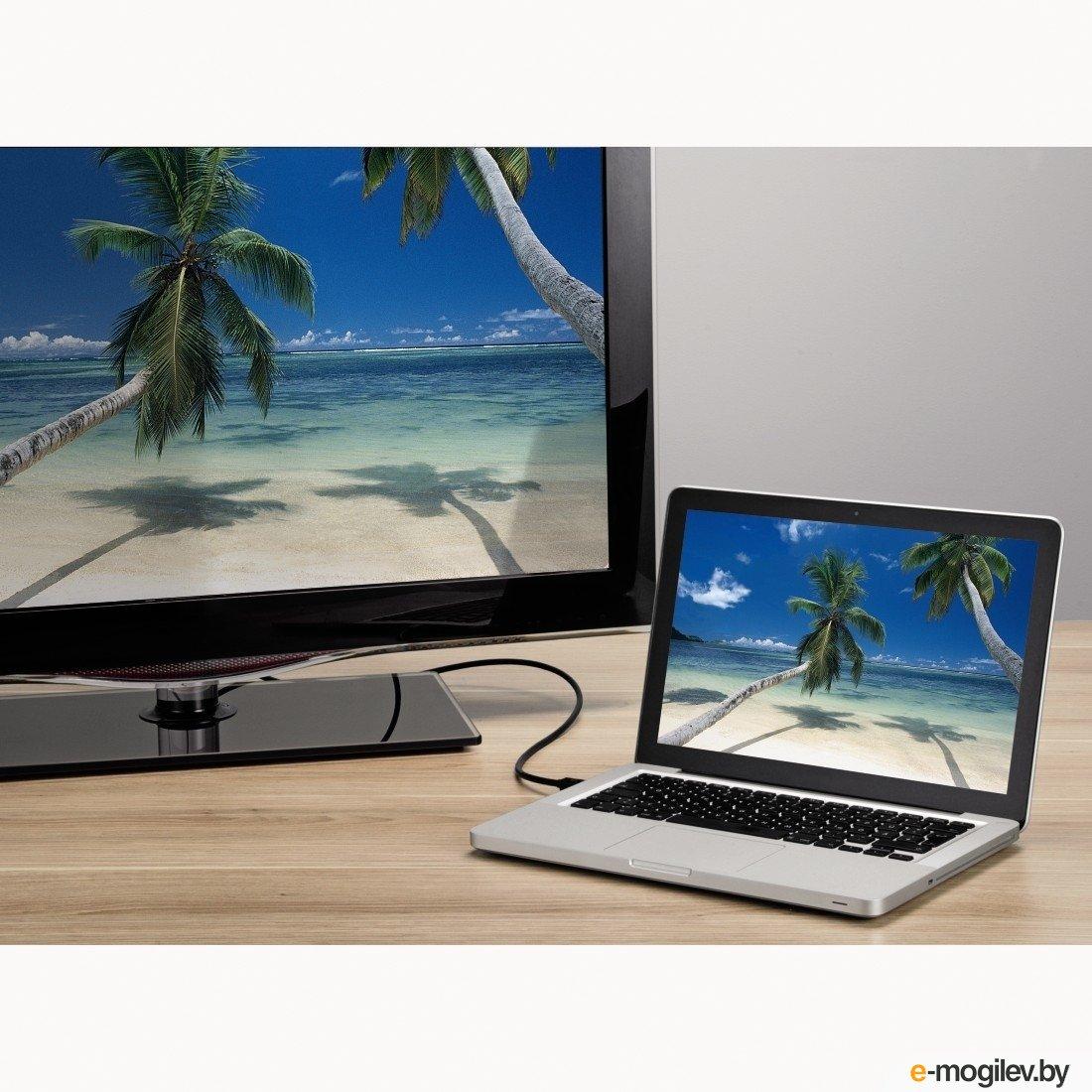 Кабель Display Port Hama DisplayPort (m)/mini DisplayPort (m) 1.8м экран. Позолоченные контакты